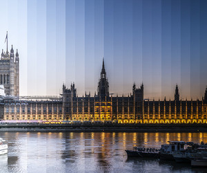 london, night, and day image