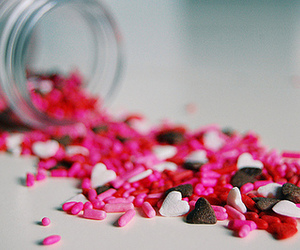 pink, candy, and hearts image