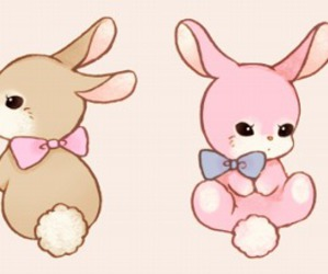bunny, kawaii, and rabit image