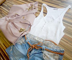 fashion, shorts, and bag image
