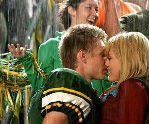 kiss, Hilary Duff, and rain image