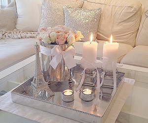 candle, home, and roses image