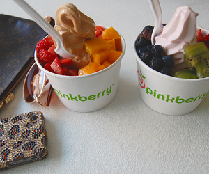 food, pinkberry, and fruit image