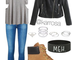 style, jeans, and rings image