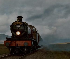 harry potter, train, and hogwarts express image