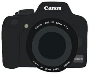 camera, transparent, and canon image