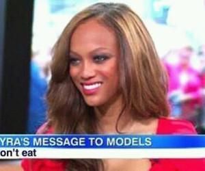 model, tyra banks, and eat image