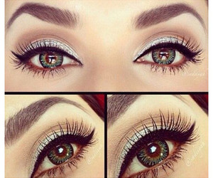 eyes, makeup, and liner image