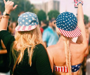 america, best friends, and blonde image