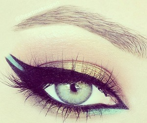 blue, brow, and liner image