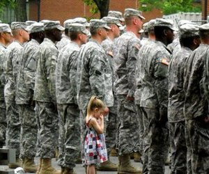army, sad, and soldier image