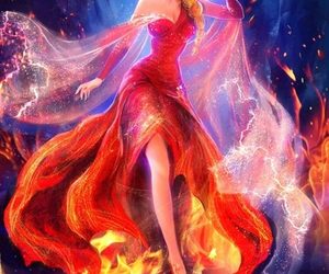 elsa, frozen, and fire image