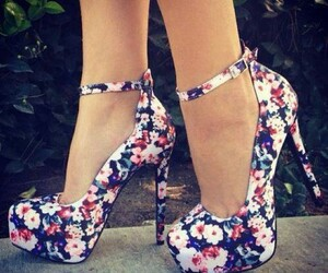 flowers, shoes, and straps image