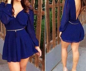 dress, blue, and look image