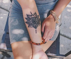 flower, henna, and mendhi image