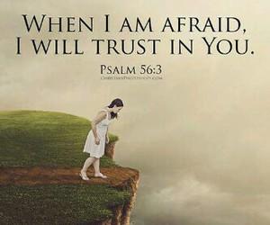 afraid, jesus, and trust image
