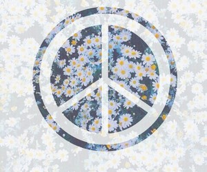 peace, wallpaper, and flowers image