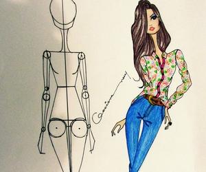 croqui and fashion image