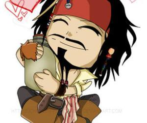 chibi, cute, and jack sparrow image