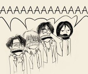 funny, shingeki no kyojin, and attack on titans image