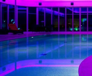 pool, purple, and neon image
