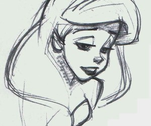 ariel, disney, and sketch image
