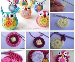 diy, crochet, and owl image