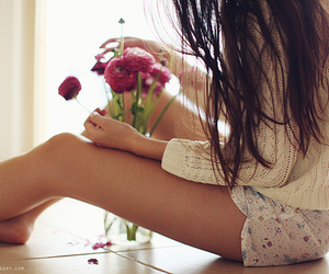 clothes, flowers, and pijama image