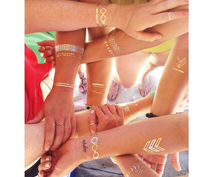 beach, friendship, and flash tattoos image