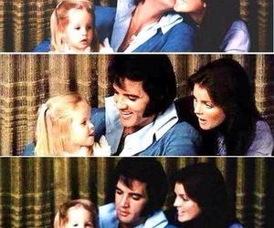 Elvis Presley, priscilla presley, and lisa marie presley image