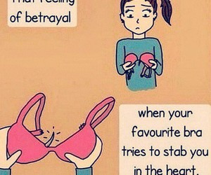 bra, funny, and betrayal image