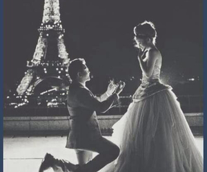 black, white, and eiffiel tower image