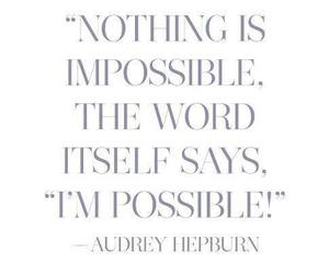 audrey hepburn and quote image