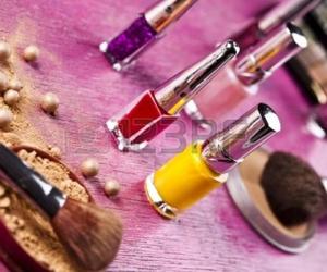 makeup and nail polish image