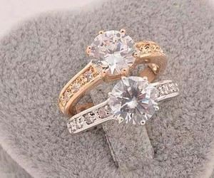rings, ring, and diamond image