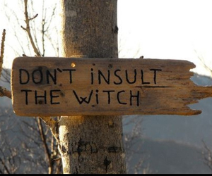 witch and sign image