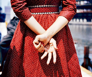 red, dress, and vintage image