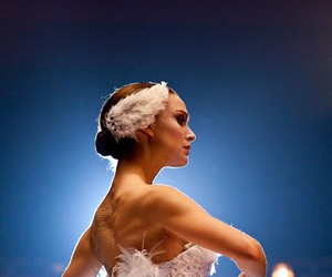 ballerina, beauty, and black swan image