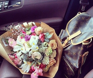 flowers, luxury, and louisvuitton image