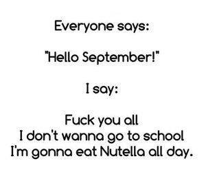 nutella, school, and September image