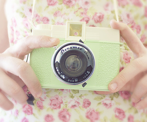 camera, vintage, and pastel image