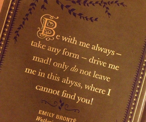 emily bronte, wuthering heights, and quote image