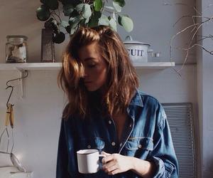 girl, coffee, and morning image