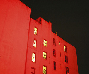 building, red, and light image