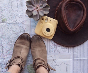 fashion, camera, and hat image