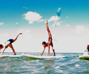 sea, water, and sup yoga image