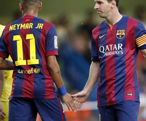 neymar, Barcelona, and messi image