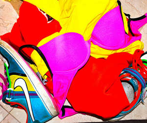 bra, bright, and colorful image
