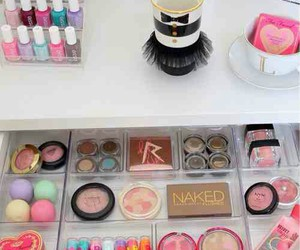 mac, makeup, and vanity table image
