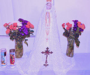 cross, fancy, and pink image